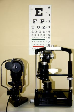 eye reading chart and other equipment